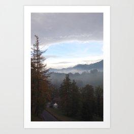 BURGENSTOCK MOUNTAIN VIEW Art Print