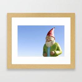 Giant Garden Gnome Framed Art Print
