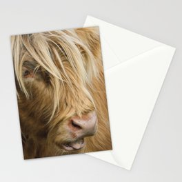 Highland Cow Portrait Stationery Cards