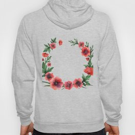 Meadow Red Poppies Hoody