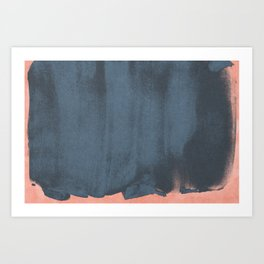 Minimal Abstract Blue Colorfield Painting 05 Art Print