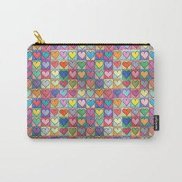 Colorful hearts Carry-All Pouch