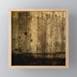 Soil is Gold - Distressed Abstract Framed Mini Art Print