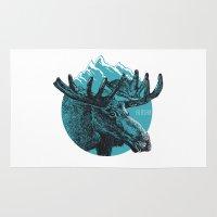 alaska Area & Throw Rugs featuring Alaska by Krikoui