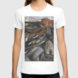 1934 American Masterpiece 'Island Dock Yard' by Karl Fortess T-shirt