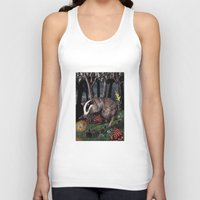 badger Tank Tops featuring badger by ahatom