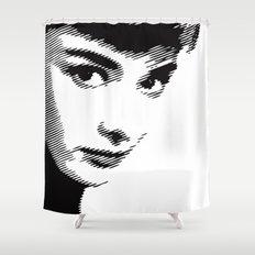 Audrey Hepburn Close Up Shower Curtain