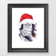 Christmas Chimp Framed Art Print