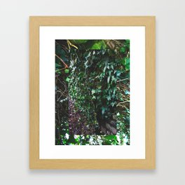 LEAF MONTAGE Framed Art Print