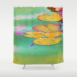 Searose Leaves  Shower Curtain