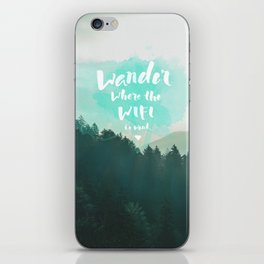 Wander iPhone Skin