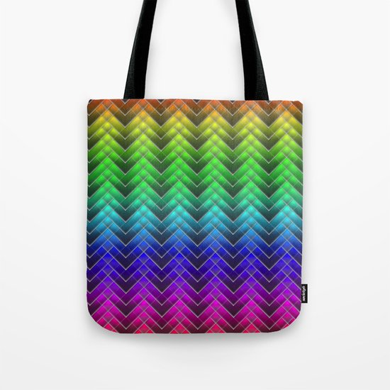 Zigzag pattern rainbow colors Tote Bag