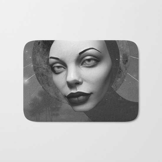 NIGHT FALLS (grayscale version) Bath Mat