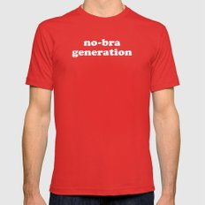 No-bra generation Mens Fitted Tee Red X-LARGE