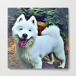 The American Eskimo Dog Metal Print