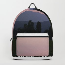 Vermont Sunset over Mad Rive Gle Vermont Backpack