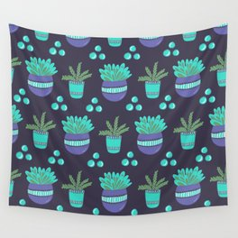 Potted Plants Pattern Wall Tapestry