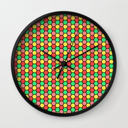 Happy Honeycombs Wall Clock