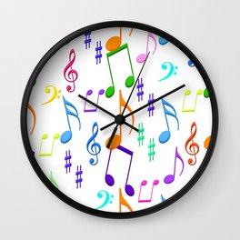 Colorful Notes Wall Clock
