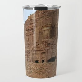 Temple facades Petra Jordan Travel Mug