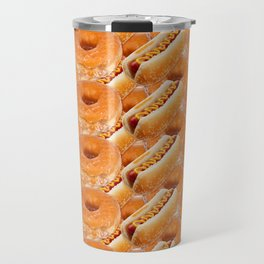 Hot Dogs and Donuts Travel Mug