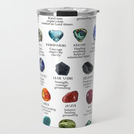 Crystal meanings and stone colours Travel Mug