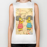 simpsons Biker Tanks featuring Patty and Selma - The Simpsons  by Jessica Maria