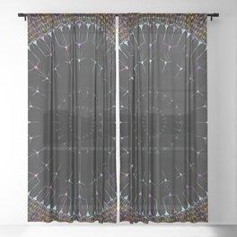 Glowing Mandala Art Sheer Curtain