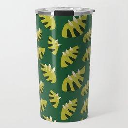 Pretty Clawed Green Leaf Pattern Travel Mug