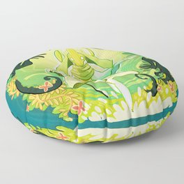 A World of Green Floor Pillow
