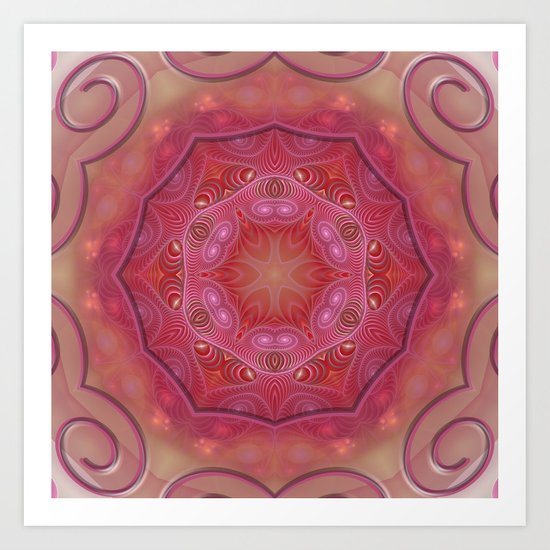 Mandala World Art Print