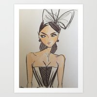 scrubs Art Prints featuring Scrubs to Couture  by Scrubs to Couture- by Craig