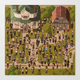 Super Walking Dead: Farm Canvas Print