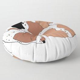 Basset Hounds Floor Pillow
