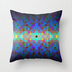 Momo pixel Throw Pillow
