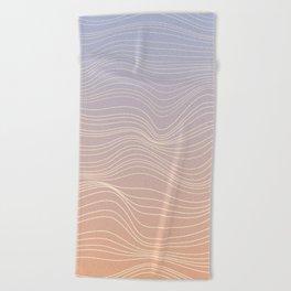 Pastel lines Beach Towel