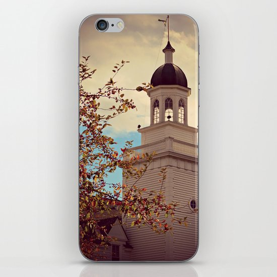 Tower in Autumn iPhone Skin