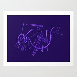Kandinsky - Purple Abstract Art Art Print