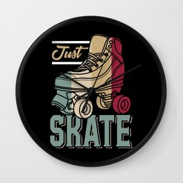Just Skate | Retro Roller Skating Wall Clock