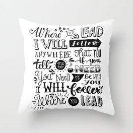 Where You Lead | Gilmore Girls Throw Pillow