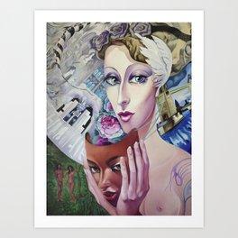 Lady Europe Art Print