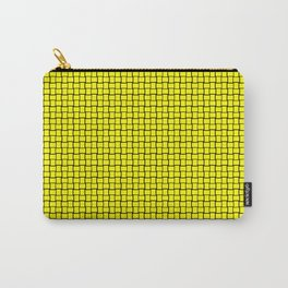 Bright Yellow Weave Pattern Design Carry-All Pouch
