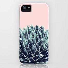 Blush Navy Blue Agave Chic #1 #succulent #decor #art #society6 iPhone Case