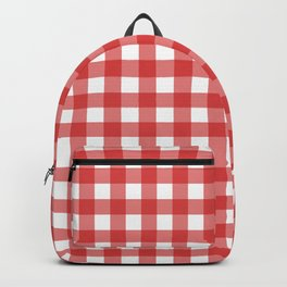 Red gingham pattern Backpack