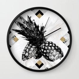 Pineapple & Diamonds Wall Clock