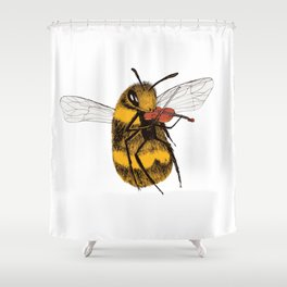 Bee tries Violin Shower Curtain