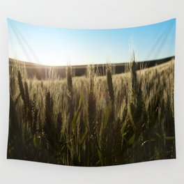 Wheat Stalks Photography Print Wall Tapestry