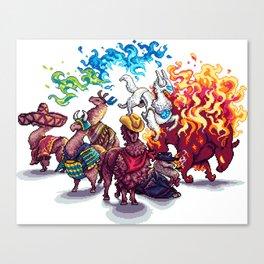 Team Llama – To the Rescue! Canvas Print