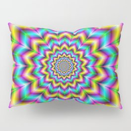 Yellow Blue and Violet Star Pillow Sham
