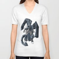 charizard V-neck T-shirts featuring Meta Charizard by VictorVieitez